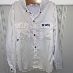 Boy's Prodoh White Fishing Shirt